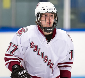 Junior Evan Smith -- and his twin brother/linemate Mitchell -- were excellent in Elite 8 action over weekend in Salem, NH.