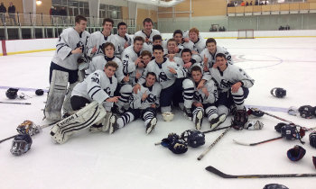 St. Mark's celebrates after winning the Barber Tournament championship with a 5-1 win over Middlesex.