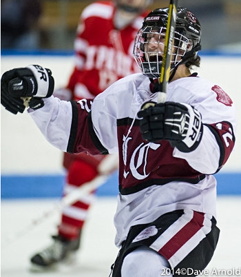 Junior Alex Esposito (2g,1a) came up big in Loomis' 3-2 win over St. Paul's in the Large School title game Sunday at Yale's Ingalls Rink