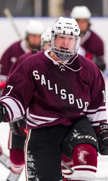 Salisbury Jr. F Cole Poliziani is pretty pumped after scoring GWG in Flood-Marr title game vs. Westminster.