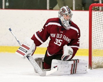 Avon sophomore G Spencer Knight recorded his first prep shutout with a 20-save performance vs. Cushing Sunday.