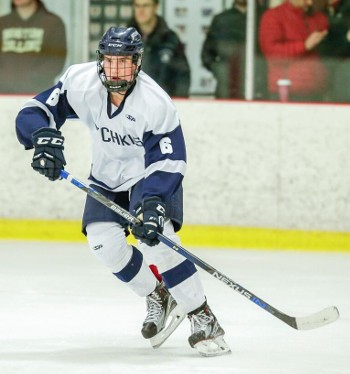 Hotchkiss junior D Marshall Rifai in action against Avon Old Farms Wed. Jan. 13th.