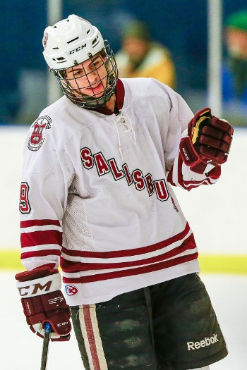 Jordan Kaplan notched three points (2g, 1a) in Salisbury's 8-2 win at Hotchkiss Wednesday Feb. 24.