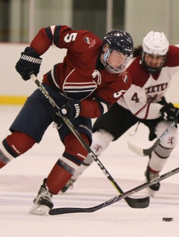Dexter D Jack Rathbone missed Friday's Nobles game and will be out several weeks with a leg injury suffered in fall hockey.