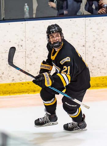 Senior F Brendan Sjostedt (2g,1a) helped Tilton to a 5-3 win over Holderness in the Small School title game on Sunday in Manchester, NH.