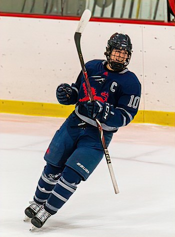Kent senior captain Aidan Cobb, a Cornell recruit, notched 2 goals and 2 assists in Kent's 5-2 win over KUA Sunday at the Exeter Tournament.