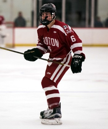 Groton senior Drew Burke notched a hat trick in Wednesday's 6-2 win over Governor's. The win was Groton's fourth in a row.