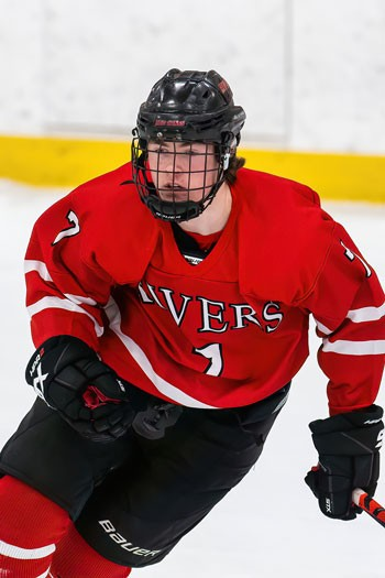 Rivers senior Phillip Tresca, a Yale recruit, scored the GWG with 32 seconds left in Wednesday's 5-4 win at Brooks.
