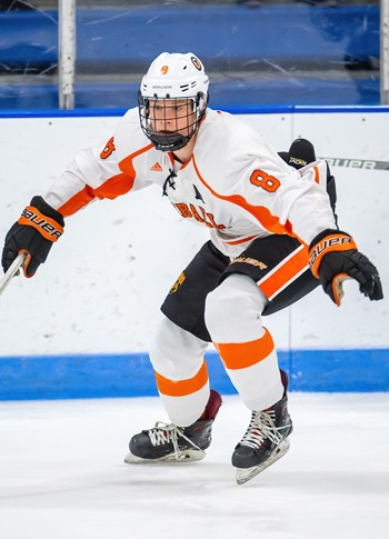 KUA senior Sullivan Mack scored the GWG, a powerplay tally in the 3rd period, in a 3-2 win at Cushing on Sat. Jan. 11. Mack, with 18 goals, is KUA's l