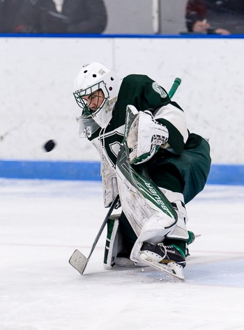 Deerfield soph. G Thomas Gale had another big game Wednesday, kicking out 49 shots as the Big Green tied up #2 KUA, 1-1.