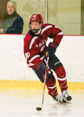 Avon junior Tyler Madden had 3 points (2g,1a) in a 5-4 loss to NMH on Wednesday.