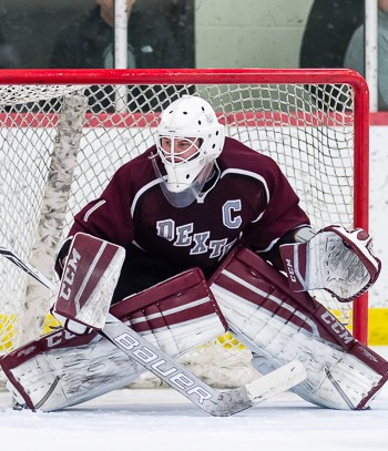 Dexter senior G Aidan Murphy was a standout Wednesday, kicking out 19 shots in a 4-2 quarterfinal win over Salisbury.