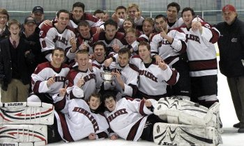 Middlesex School celebrates 2012 Barber Tournament championship.