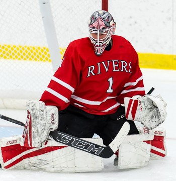 Rivers senior Aidan Porter, a Princeton commit, posted a 32-save shutout of St. Sebastian's on Wednesday.