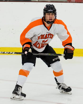Senior Evan Googins scored 2 goals in Thayer's 6-3 win at Milton Fri. Feb. 16th.