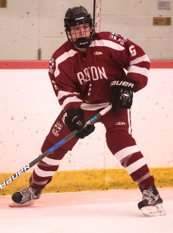 Groton junior forward Drew Burke had two goals tonight, including the game-winner on a breakaway, to lead his team to a 3-2 win over Hebron on Wed. Ja